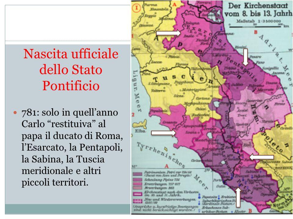 Nascita ufficiale dello Stato Pontificio