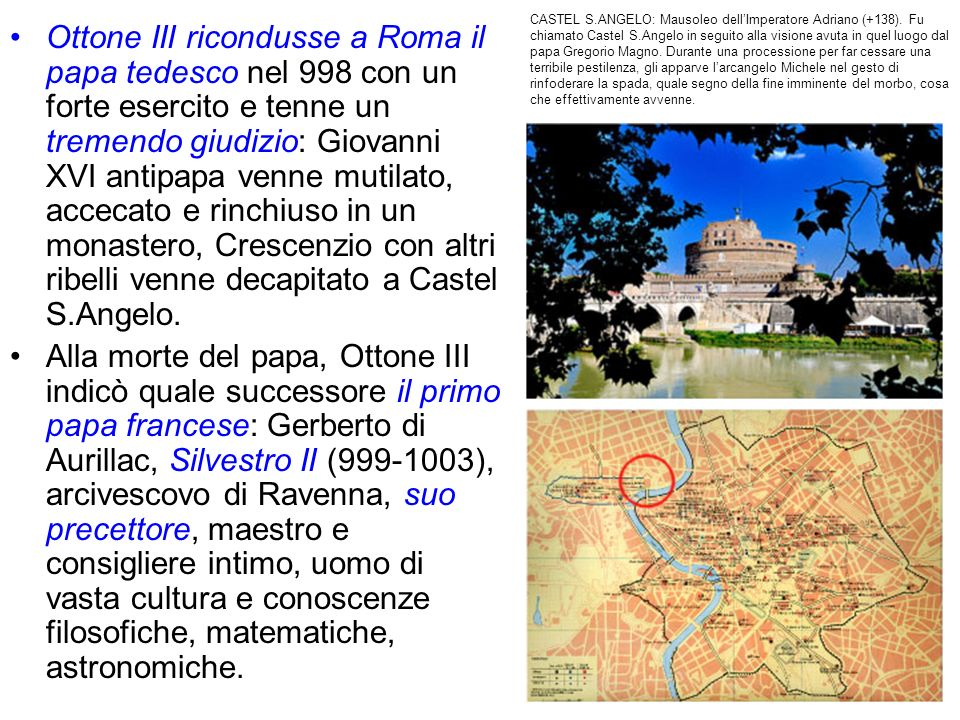 CASTEL S. ANGELO: Mausoleo dell'Imperatore Adriano (+138)
