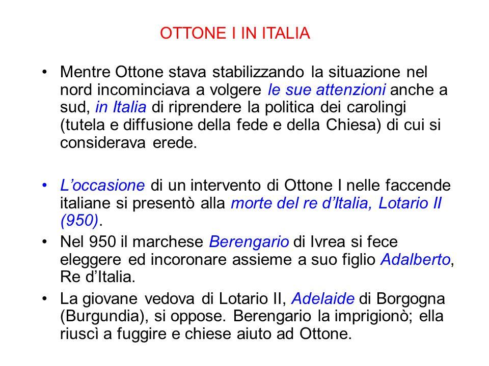 OTTONE I IN ITALIA