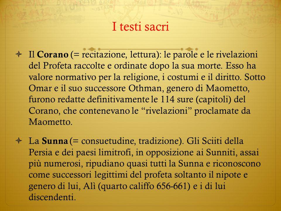I testi sacri