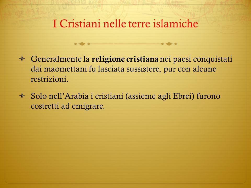 I Cristiani nelle terre islamiche