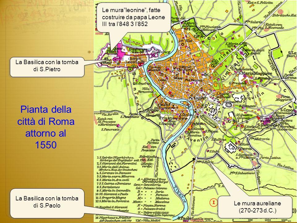 Pianta della città di Roma attorno al 1550