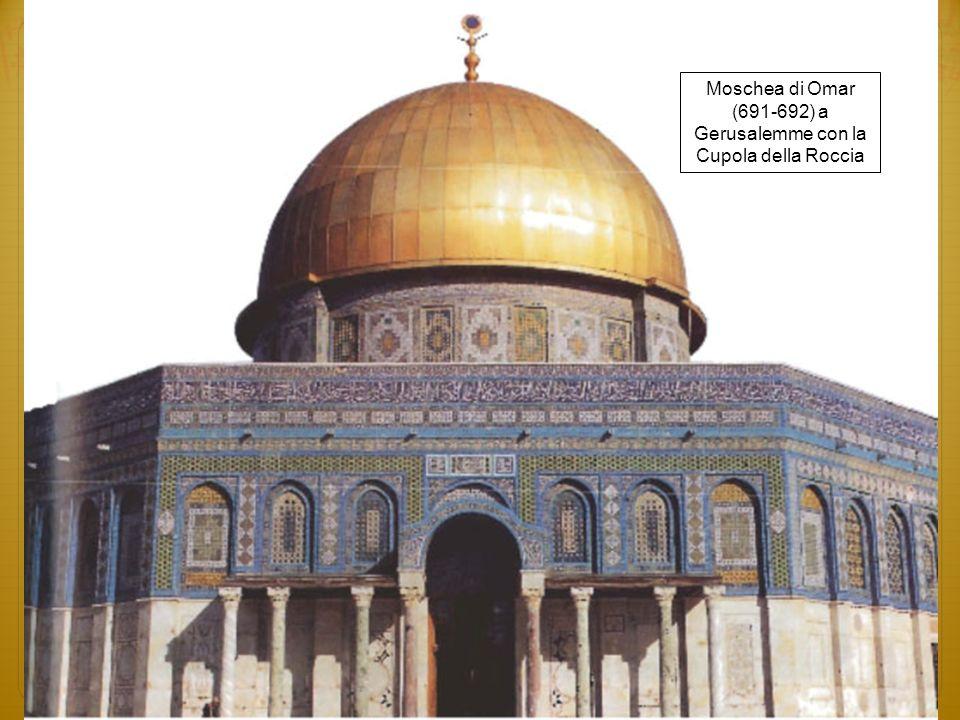 Moschea di Omar (691-692) a Gerusalemme con la Cupola della Roccia