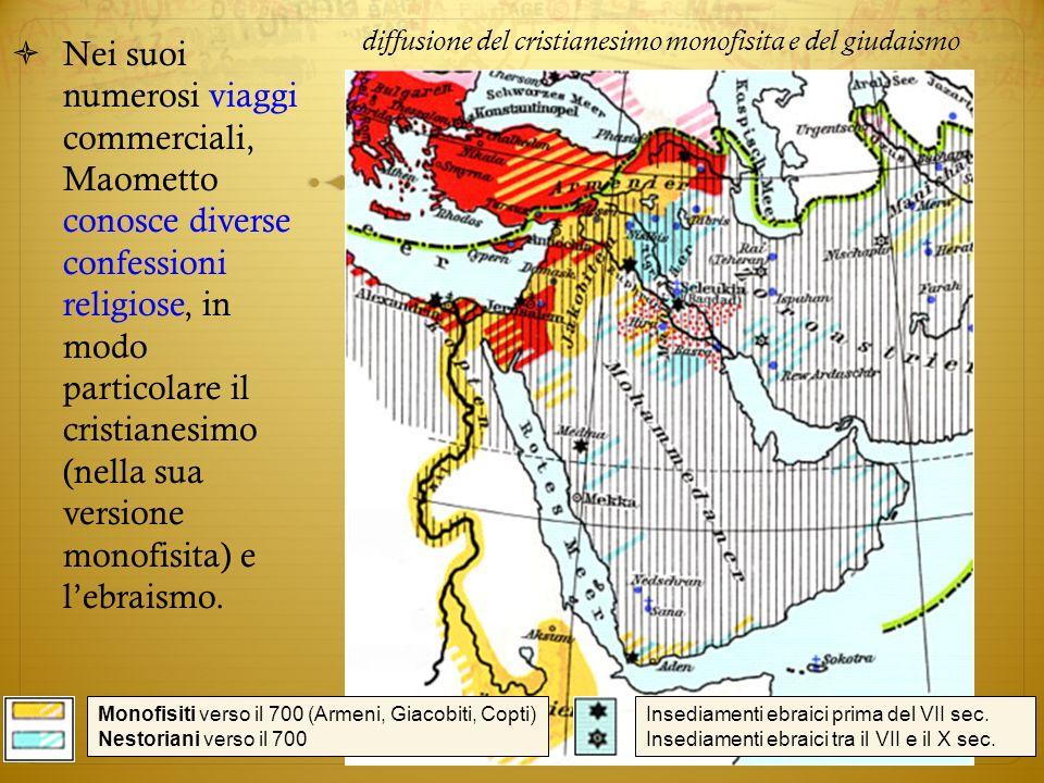 diffusione del cristianesimo monofisita e del giudaismo