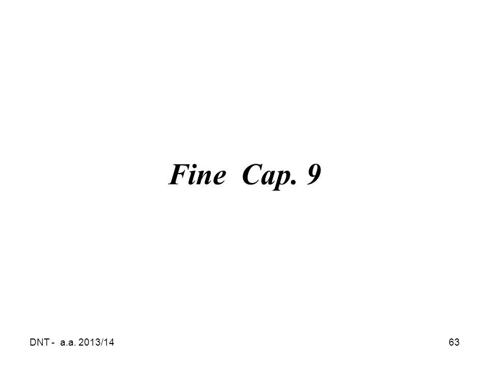 Fine Cap. 9 DNT - a.a. 2013/14