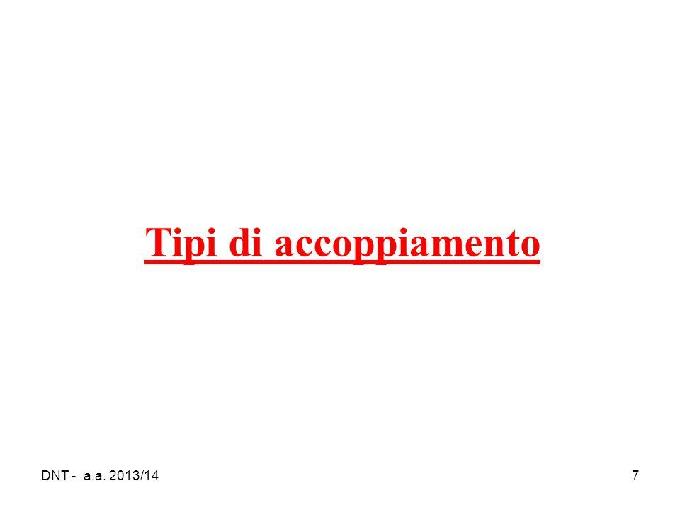 Tipi di accoppiamento DNT - a.a. 2013/14