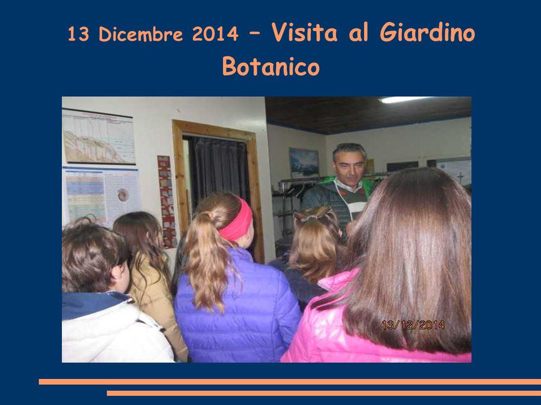 13 Dicembre 2014 – Visita al Giardino Botanico