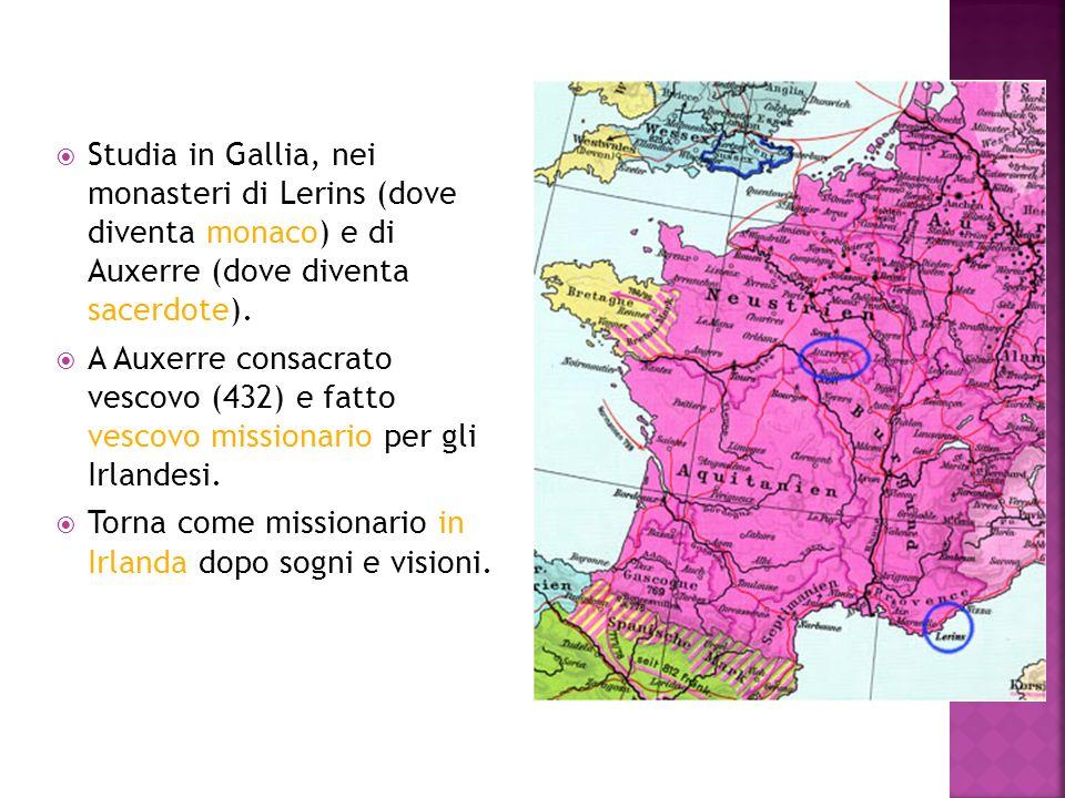 Studia in Gallia, nei monasteri di Lerins (dove diventa monaco) e di Auxerre (dove diventa sacerdote).