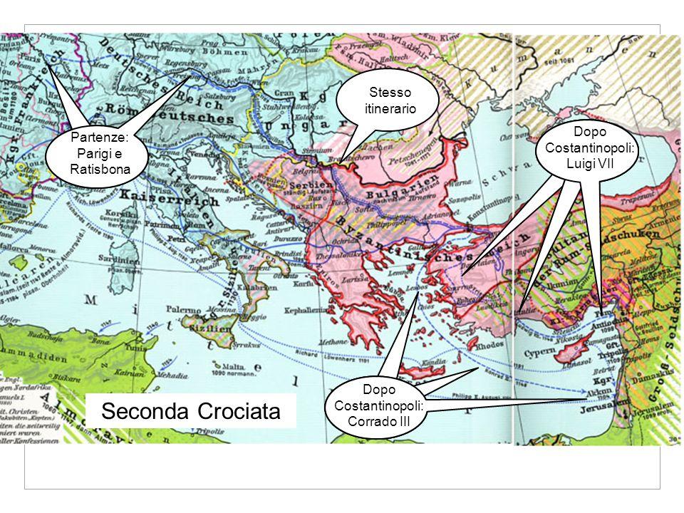 Seconda Crociata Stesso itinerario Dopo Costantinopoli: Luigi VII
