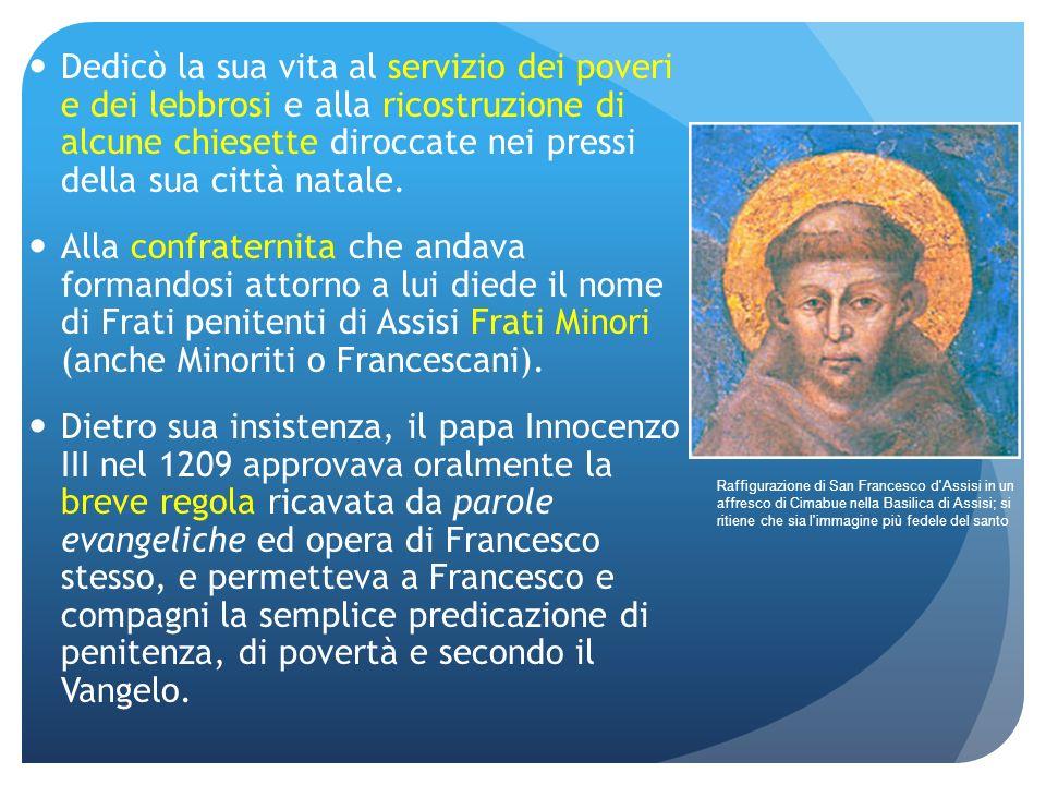 Dedicò la sua vita al servizio dei poveri e dei lebbrosi e alla ricostruzione di alcune chiesette diroccate nei pressi della sua città natale.