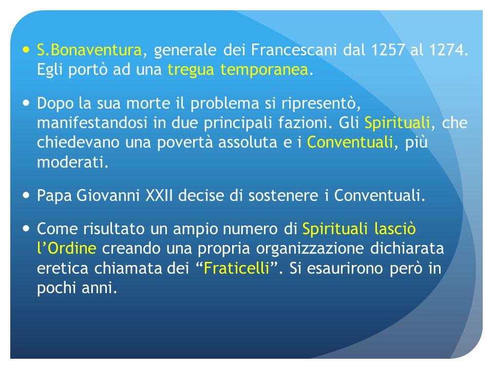 S. Bonaventura, generale dei Francescani dal 1257 al 1274
