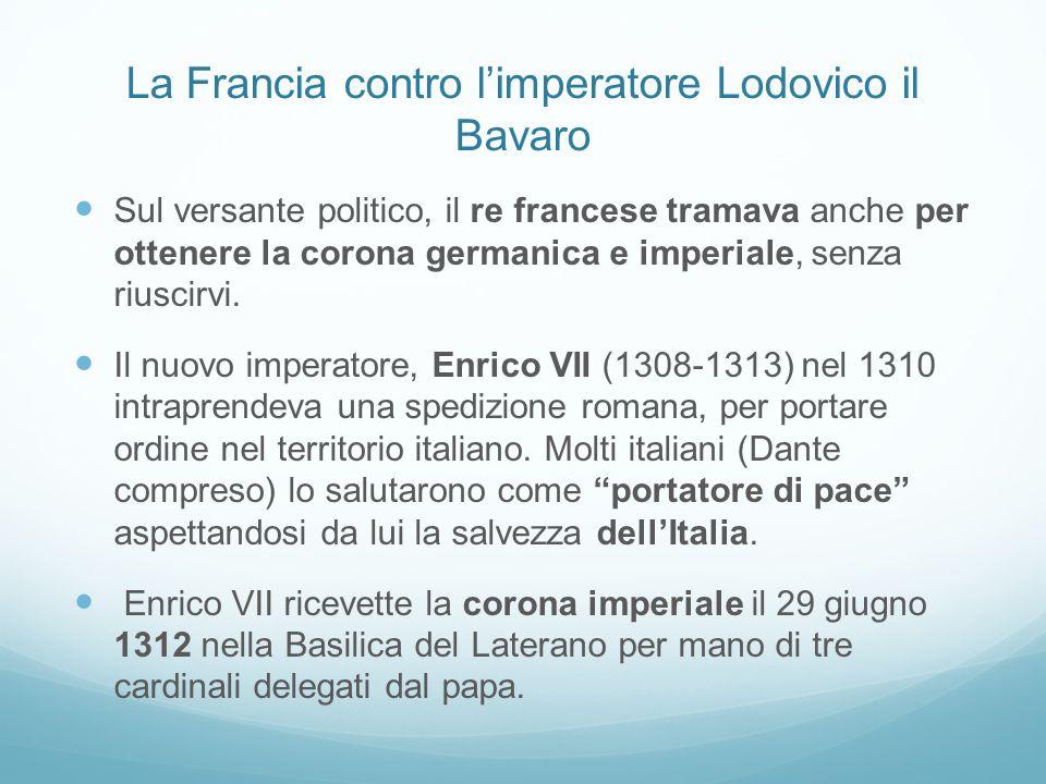 La Francia contro l'imperatore Lodovico il Bavaro