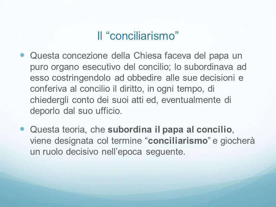 Il conciliarismo