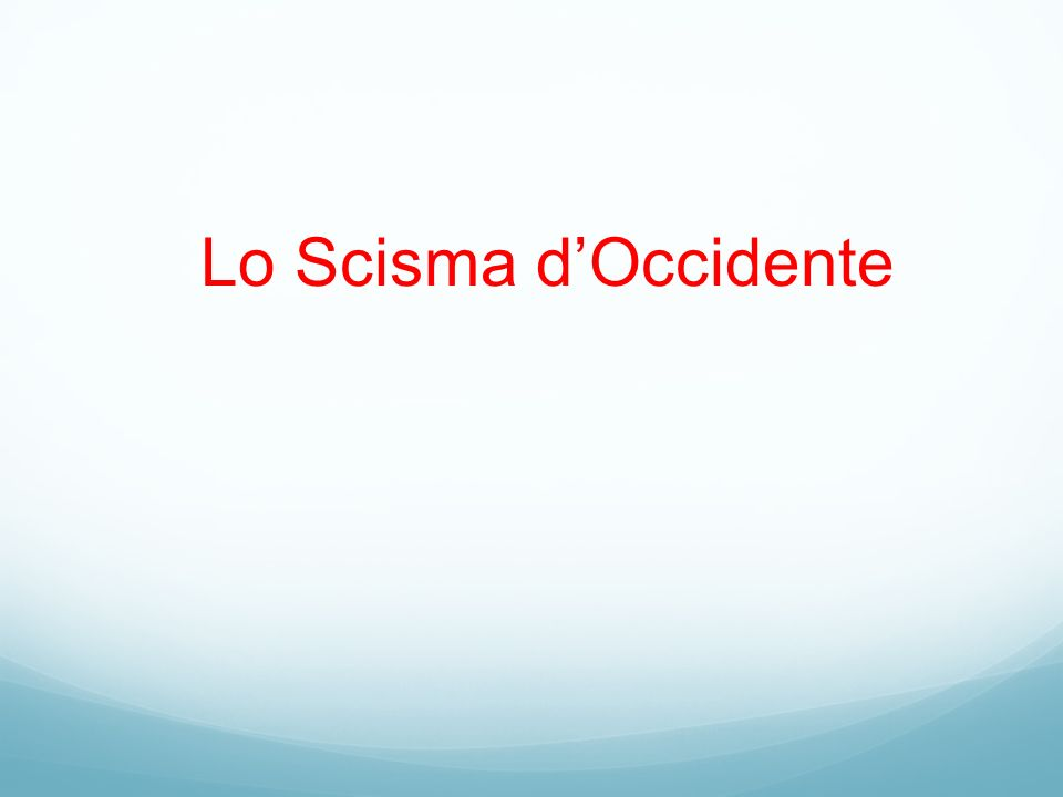 Lo Scisma d'Occidente