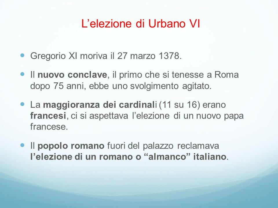 L'elezione di Urbano VI