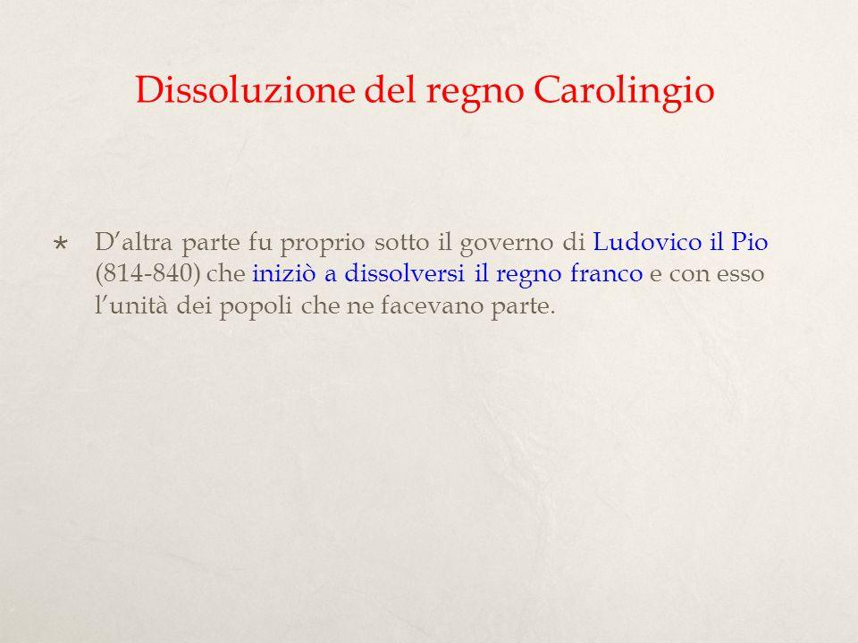 Dissoluzione del regno Carolingio