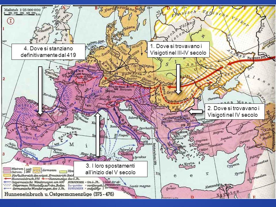 1. Dove si trovavano i Visigoti nel III-IV secolo
