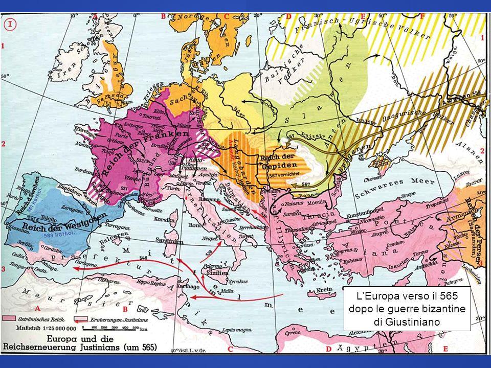 L'Europa verso il 565 dopo le guerre bizantine di Giustiniano