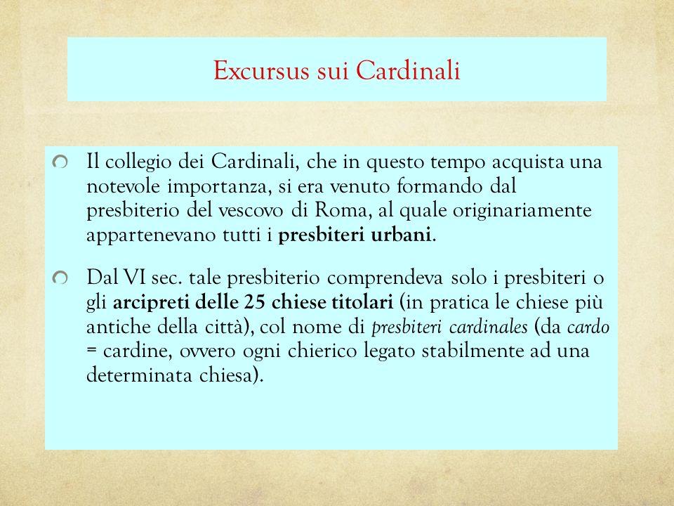 Excursus sui Cardinali