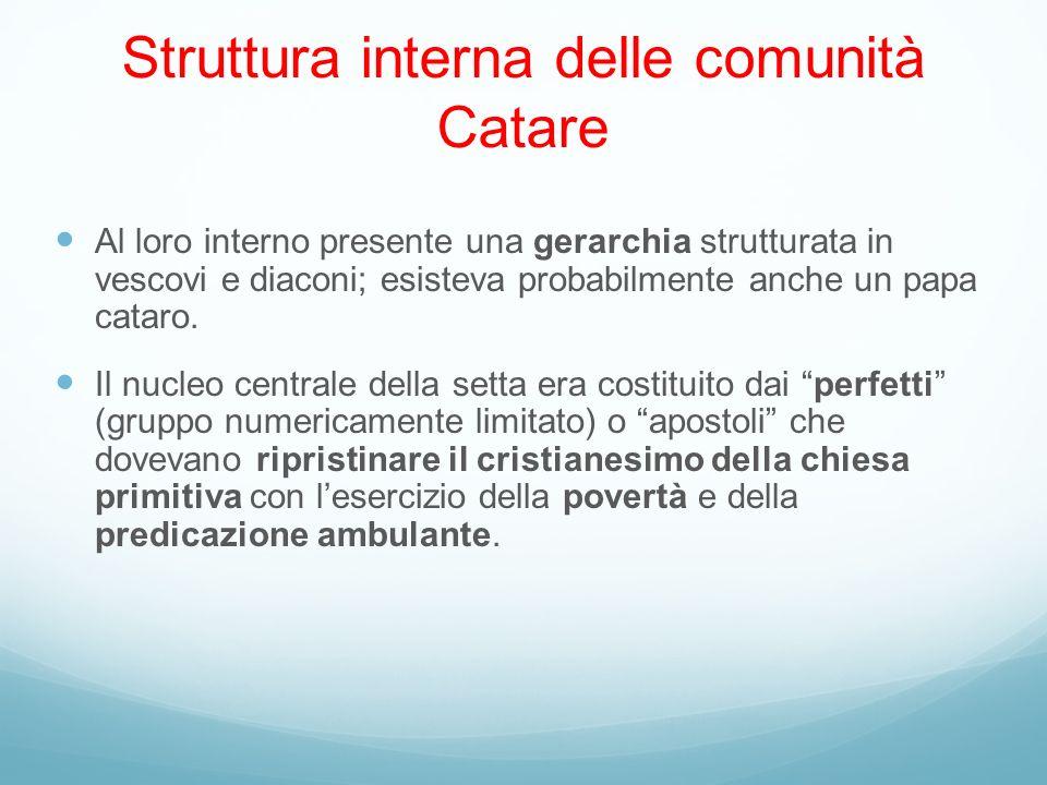 Struttura interna delle comunità Catare