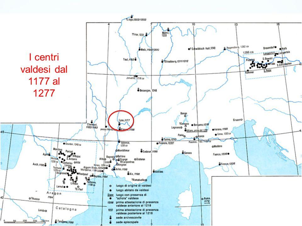 I centri valdesi dal 1177 al 1277