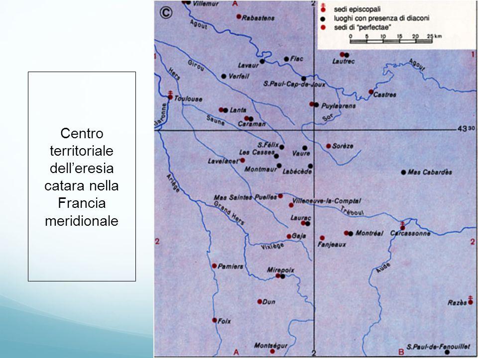 Centro territoriale dell'eresia catara nella Francia meridionale
