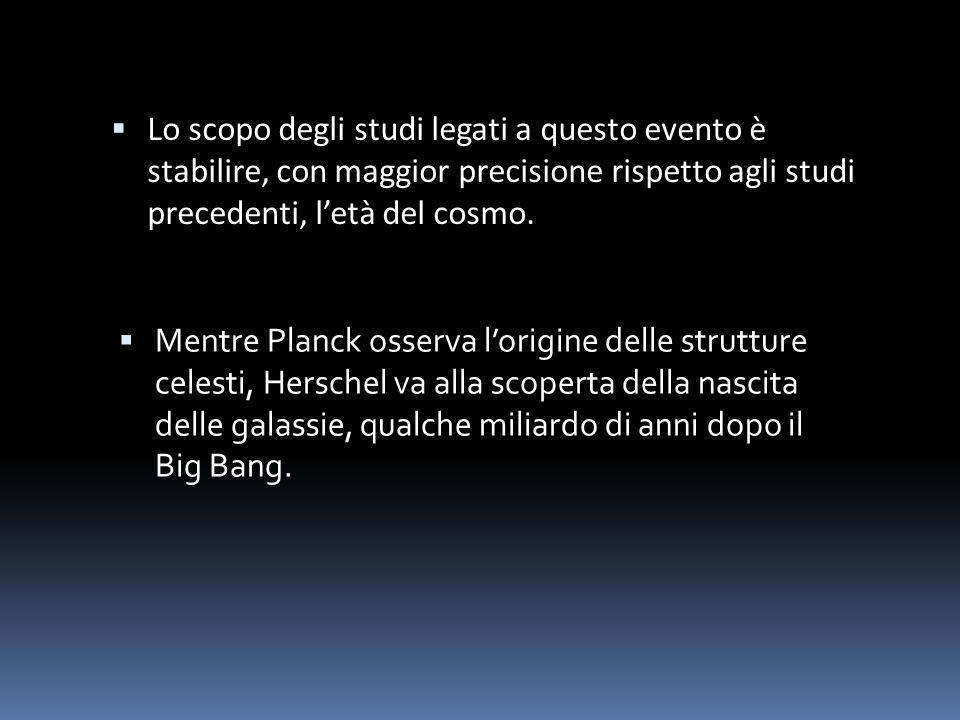 Lo scopo degli studi legati a questo evento è stabilire, con maggior precisione rispetto agli studi precedenti, l'età del cosmo.
