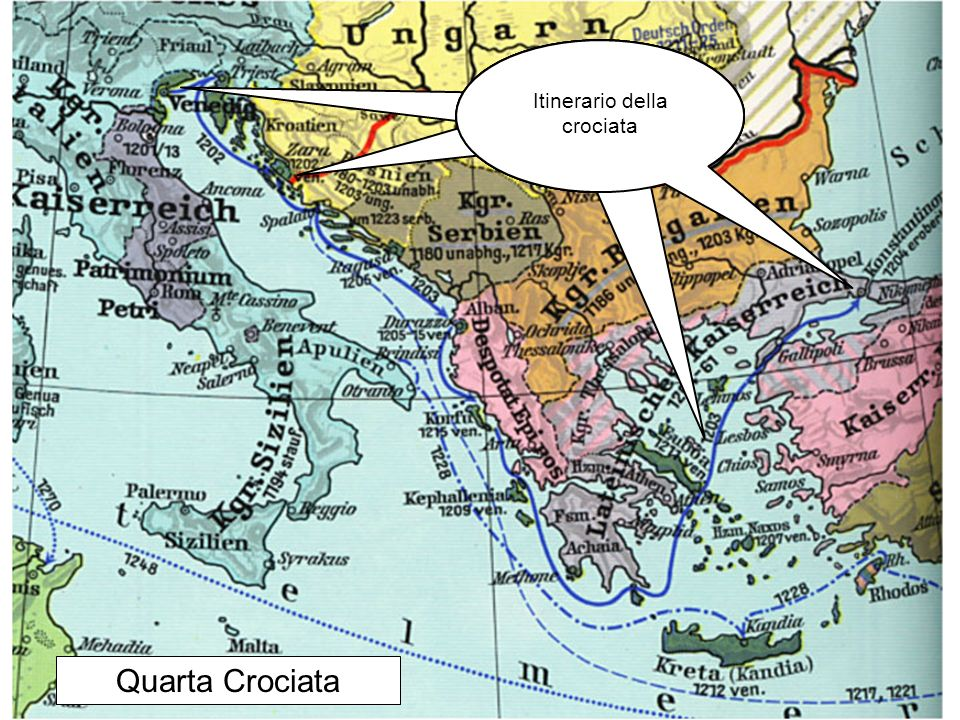 Itinerario della crociata