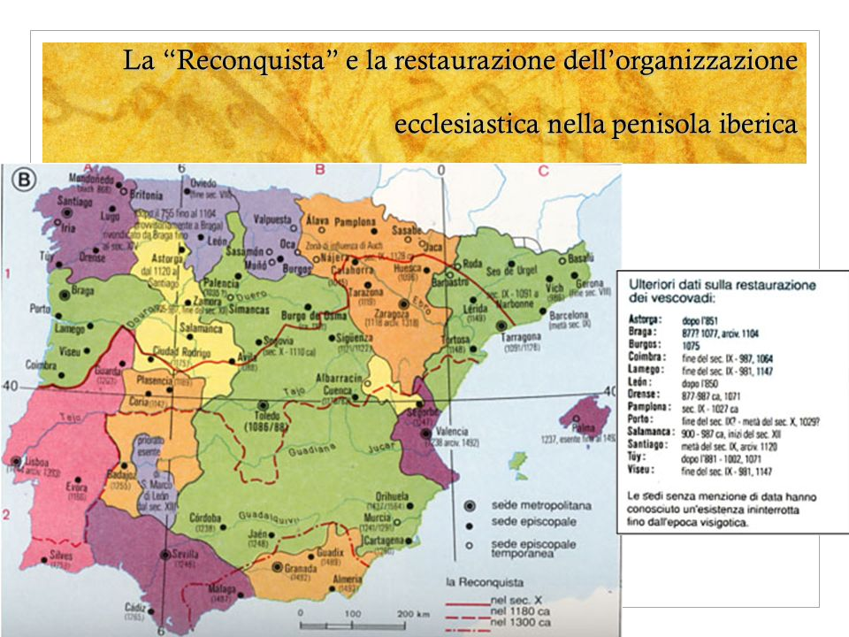 La Reconquista e la restaurazione dell'organizzazione ecclesiastica nella penisola iberica