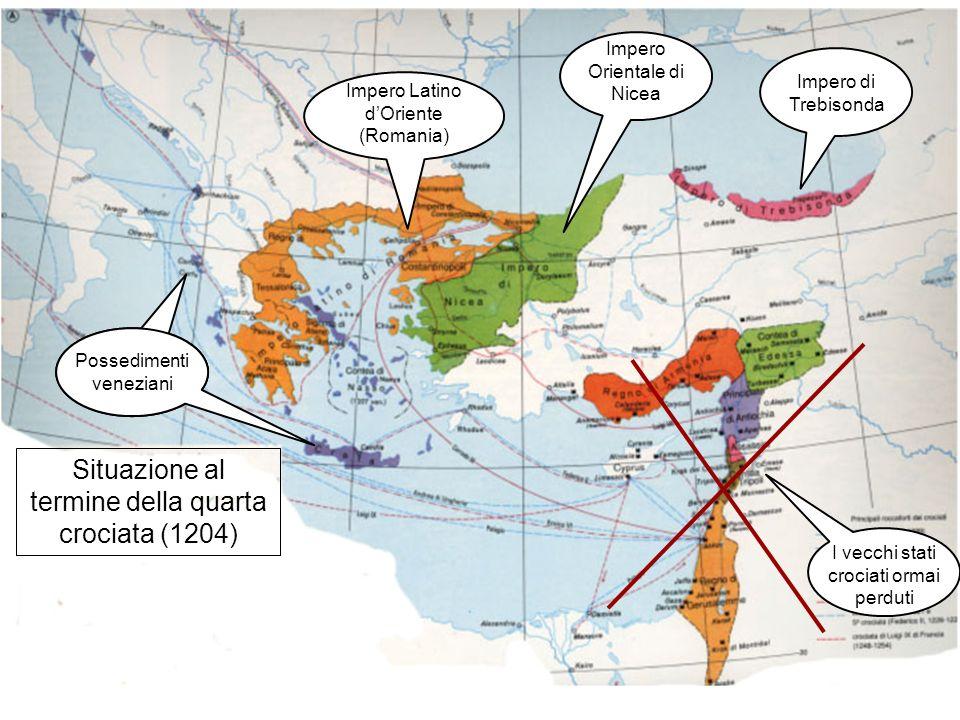 Situazione al termine della quarta crociata (1204)