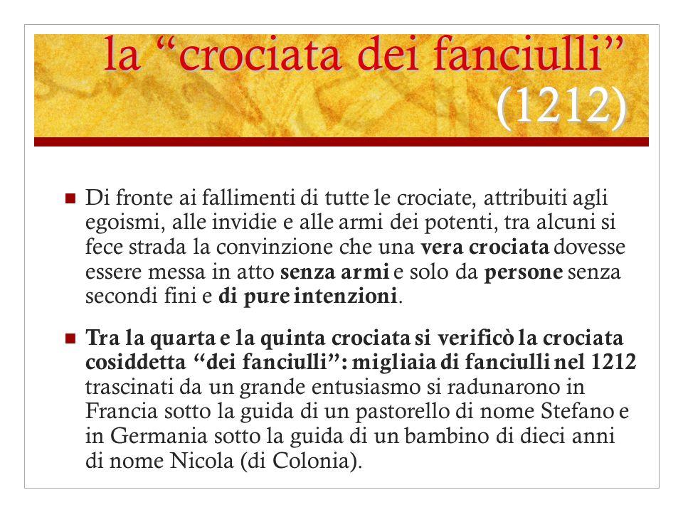 la crociata dei fanciulli (1212)
