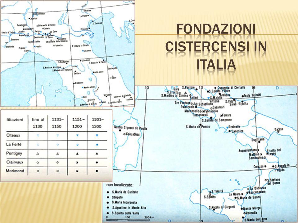 Fondazioni Cistercensi in italia