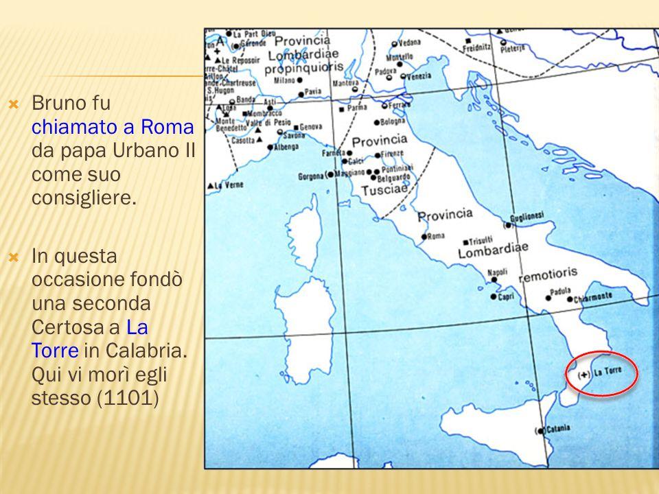 Bruno fu chiamato a Roma da papa Urbano II come suo consigliere.
