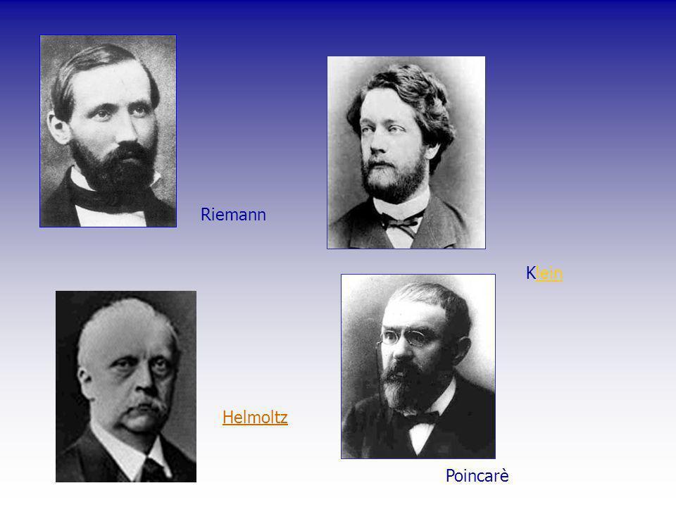 Riemann Klein Helmoltz Poincarè