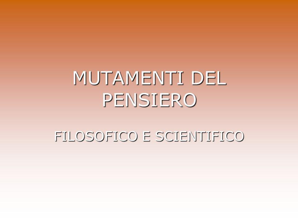 MUTAMENTI DEL PENSIERO