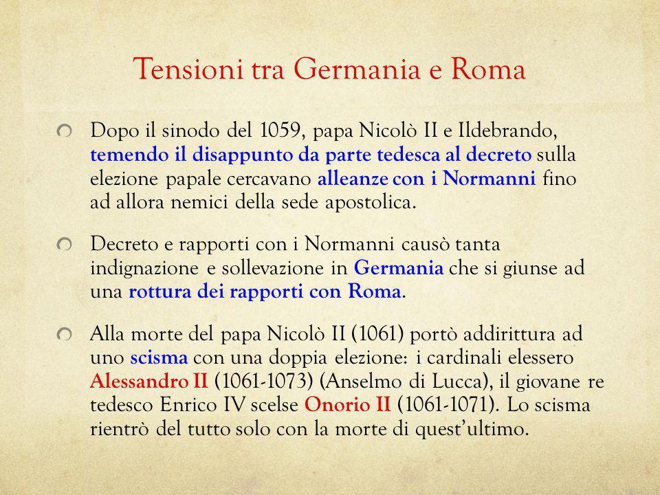 Tensioni tra Germania e Roma