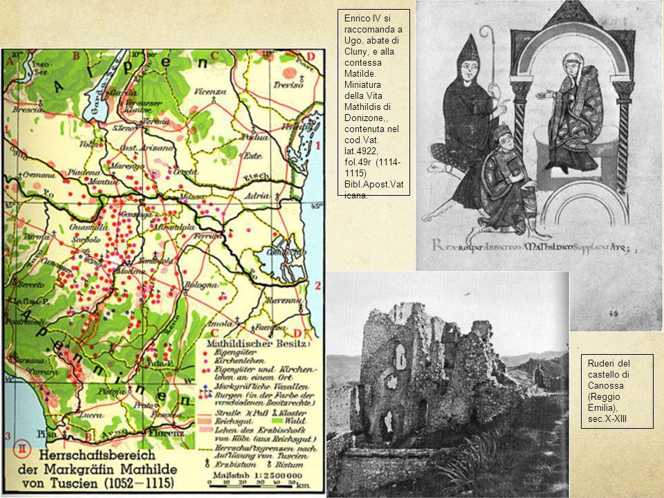 Enrico IV si raccomanda a Ugo, abate di Cluny, e alla contessa Matilde