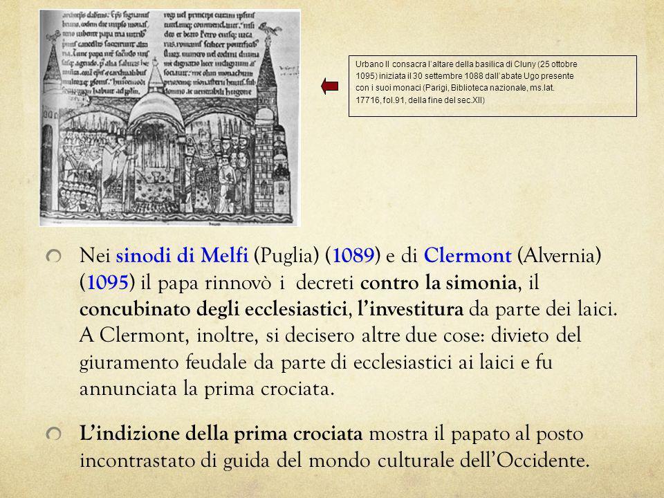 Urbano II consacra l'altare della basilica di Cluny (25 ottobre