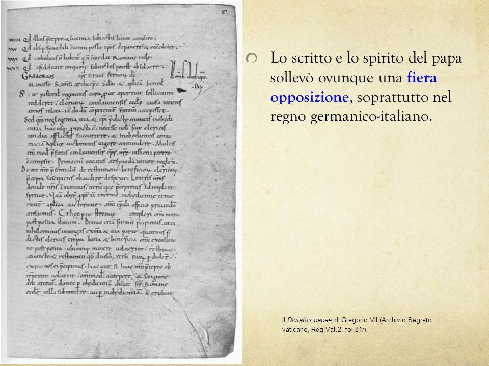 Lo scritto e lo spirito del papa sollevò ovunque una fiera opposizione, soprattutto nel regno germanico-italiano.