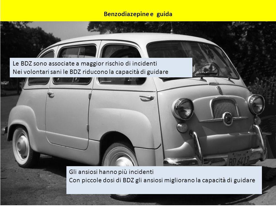 Benzodiazepine e guida