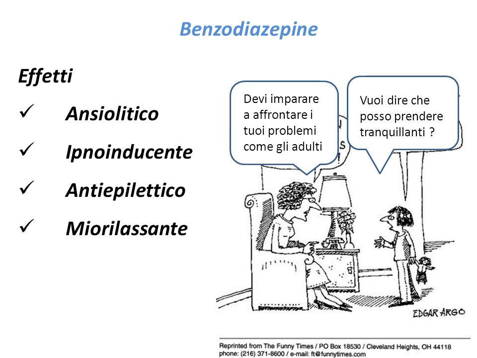Benzodiazepine Effetti Ansiolitico Ipnoinducente Antiepilettico