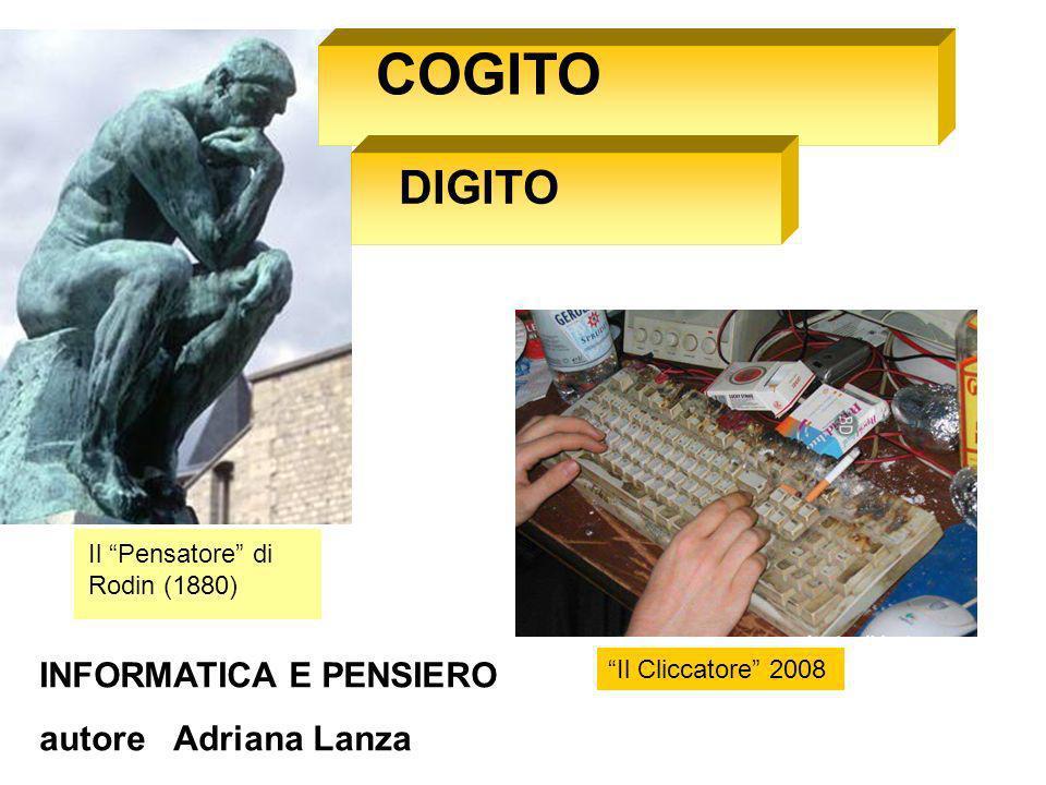 COGITO DIGITO INFORMATICA E PENSIERO autore Adriana Lanza