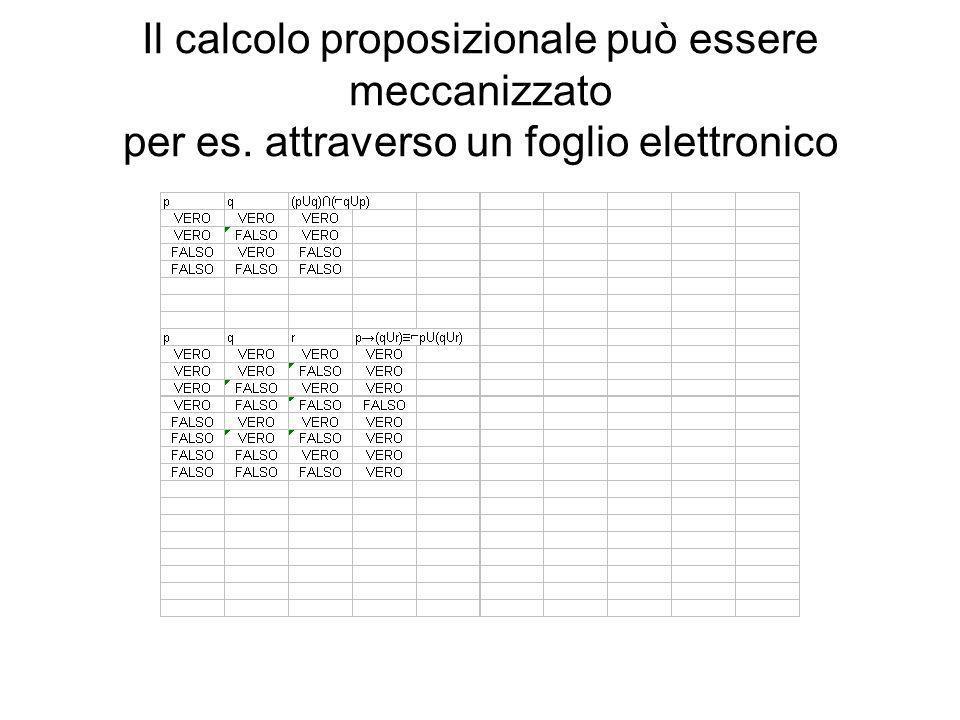 Il calcolo proposizionale può essere meccanizzato per es