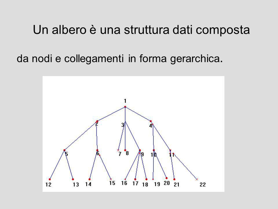 Un albero è una struttura dati composta