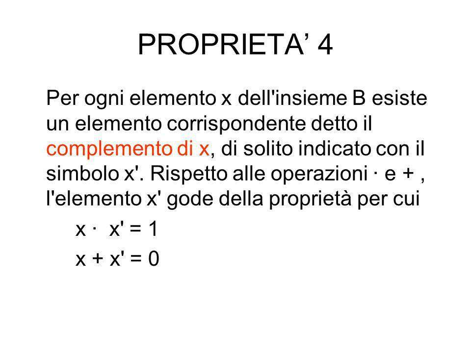 PROPRIETA' 4