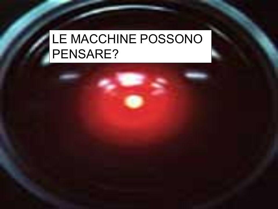 LE MACCHINE POSSONO PENSARE