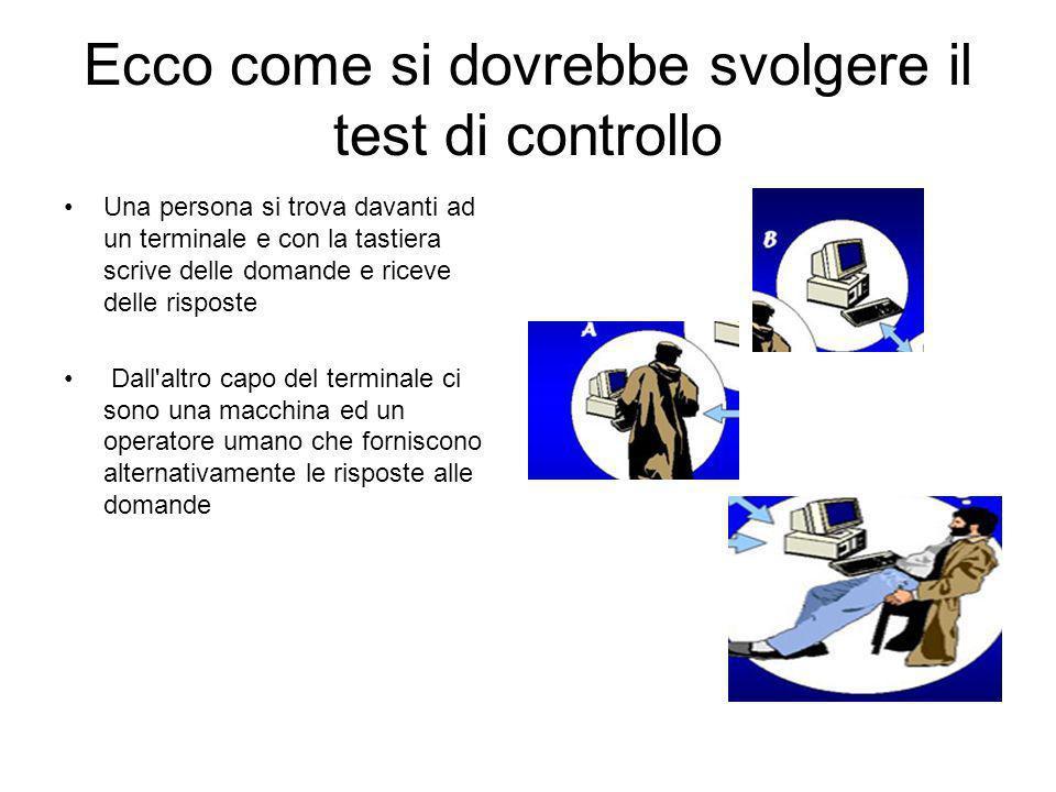 Ecco come si dovrebbe svolgere il test di controllo