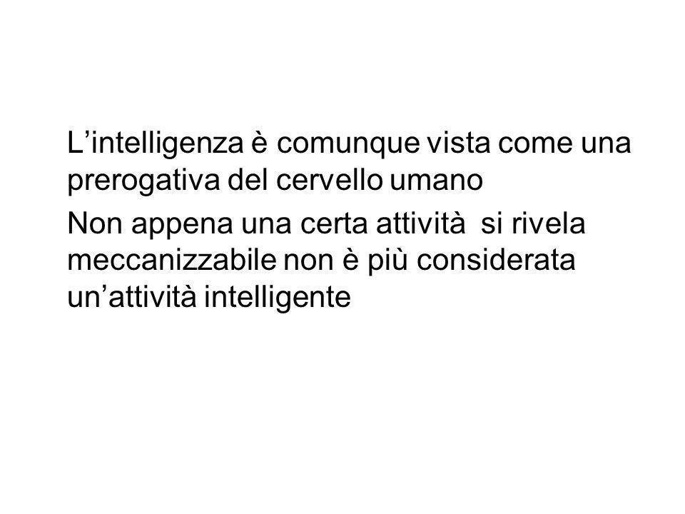 L'intelligenza è comunque vista come una prerogativa del cervello umano