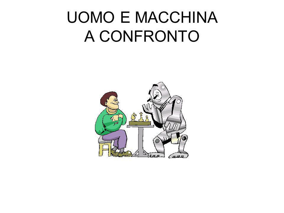 UOMO E MACCHINA A CONFRONTO