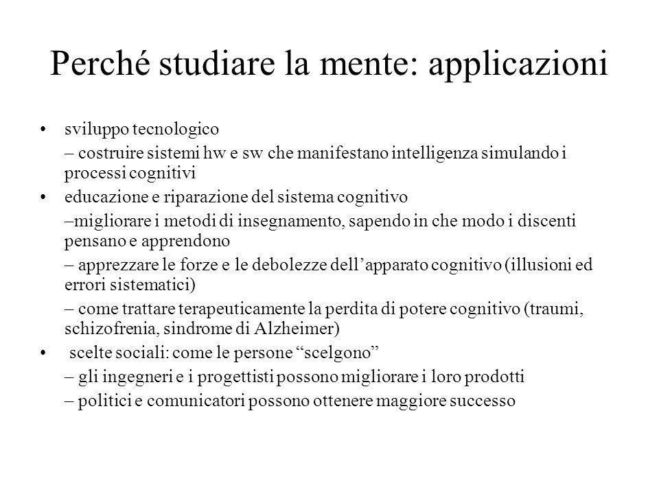 Perché studiare la mente: applicazioni